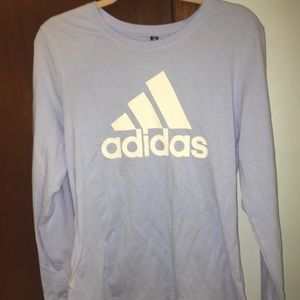 Brand new light blue adidas long sleeve t-shirt